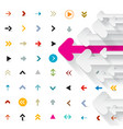 arrows background arrow icons vector image vector image