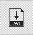 avi file document icon download avi button icon vector image