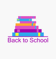 back to school background with books bookshelf vector image