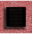 Background with shiny red sequins Eps 10 vector image vector image