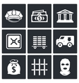 Bank icons set vector image vector image
