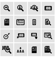 black job search icon set vector image vector image
