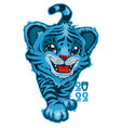 blue water tiger is the symbol of 2022 vector image vector image