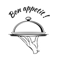 bon appetit delicious dish element vector image