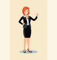 business woman points to something vector image vector image
