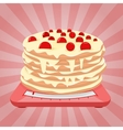 Cake on the scales vector image