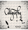 Calligraphic elements - black design vintage vector image vector image