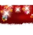 Christmas theme with glass balls vector image