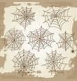 cobweb set on grunge vintage background vector image