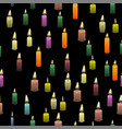 colored burning wax candles seamless pattern vector image vector image