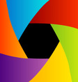 Colorful Shutter aperture background vector image vector image