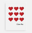 cut the red heart on the paper and a white vector image vector image