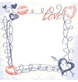 cute hand-drawn doodle frame vector image vector image