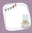 cute little cartoon hare cute little cartoon hare vector image vector image