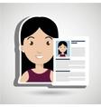 cv resume woman icon vector image