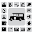 Education icons set eps 10 vector image vector image