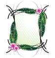 Elegant greeting frame vector image vector image