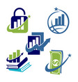 financial accounting consulting business logo icon vector image vector image