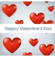 Flying red hearts Happy Valentines Day great for vector image vector image