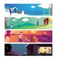 four seasons theme vector image