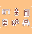 furniture stickers vector image vector image