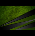 grunge tech material green and black background vector image vector image