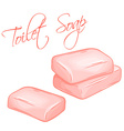 hand drawn of isolated soap vector image vector image