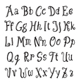 hand lettering alphabet vector image