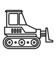 heavy bulldozer icon outline style vector image vector image