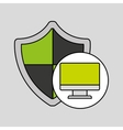internet security computer protection shield vector image vector image