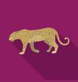 leopardafrican safari single icon in flat style vector image vector image
