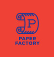 logo paper factory roll of paper vector image