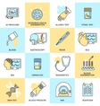 Medical tests icons flat line vector image vector image