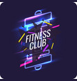 modern neon poster for sports and fitness club vector image