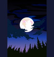 nature landscape design with dark moon vector image vector image