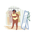 obesity and weight problems sad overweight woman vector image vector image