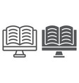 online reading line glyph icon e learning vector image vector image