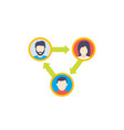people interacting or team interaction icon vector image vector image