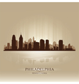 Philadelphia pennsylvania skyline city silhouette vector | Price: 1 Credit (USD $1)