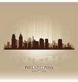 Philadelphia Pennsylvania skyline city silhouette vector image vector image