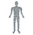 projector person figure vector image