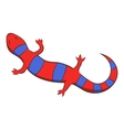 Red lizard icon cartoon style vector image vector image