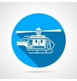 Round icon for ambulance helicopter vector image vector image