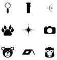 safari icon set vector image