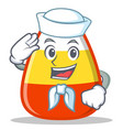 sailor candy corn character cartoon vector image vector image