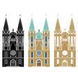 se cathedral sao paulo city vector image vector image