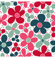 seamless children pattern with blue and pink vector image