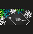 snowflake christmas greeting card template vector image