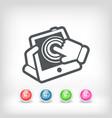 touchscreen action icon vector image vector image