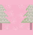 trees snowflakes celebration merry christmas vector image vector image